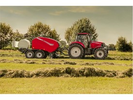 Case IH Round Baler in action