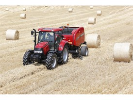 Case IH Round Baler 455 in the field