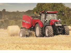 Case IH Round Baler in the field