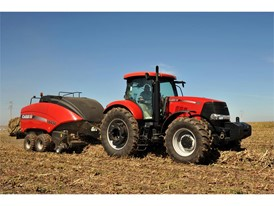 Case IH Puma 225 and a Large Square Baler 434
