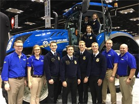 Pennsylvania State FFA Officer Team and New Holland employees