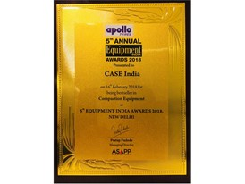 Equipment India Award - Best in the Compaction Equipment Category.