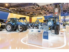 The New Holland Agriculture stand at FIMA show