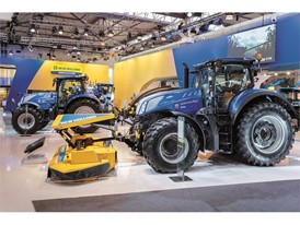 New Holland T7 on display at FIMA show