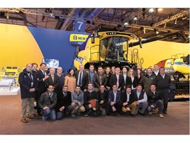 New Holland Agriculture representatives on the stand at FIMA Show