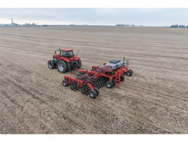 The Case IH Precision Disk 500T single disk air drill features unmatched maneuverability for high-efficiency seeding.