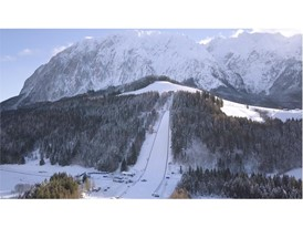The ski jump hill in Kulm, home of the World Ski Jumping Championship