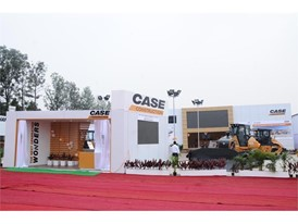 CASE Construction Equipment's stand at EXCON 2017