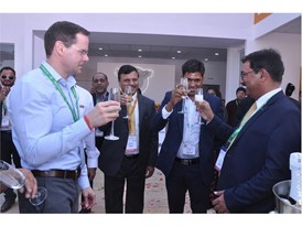 CASE celebrates the hand over of the 100th motor grader of the year in India