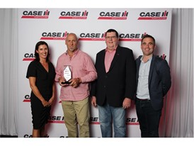 From left, Lisa Day, David Hair, Bruce Healy, brand leader for Case IH Australia/New Zealand, and Gareth Webb