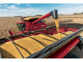 Axial-Flow 9240 and grain cart