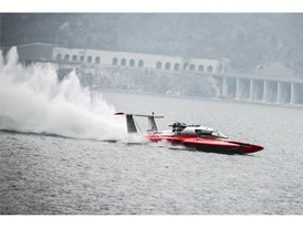 Fabio Buzzi during his Guinness World Record for the fastest speed on water