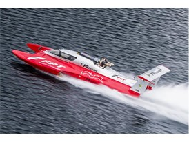 FPT Industrial diesel powerboat breaking the World Speed Record