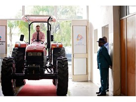 A Case IH JXT was one of several machines viewed by President Mnangagwa