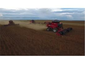 Case IH harvesting soybean in Brazil