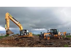 CASE CX2108 Excavator and 845B Motor Grader