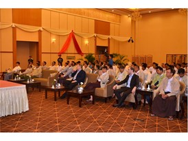 The ceremony for New Holland Agriculture's delivery of 600 tractors to the Myanmar Government