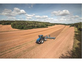 The new T9 Auto Command ploughing a field
