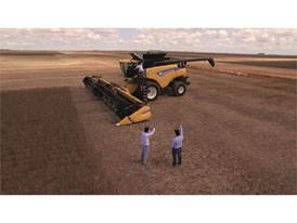 New Holland CR8.90 that achieved a world record