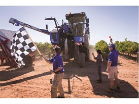 New Holland sets new benchmark in Grape Harvesting performance: 197.6 tonnes of grapes harvested in just 8 hours