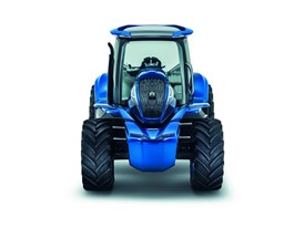 Front view of the Methane Power Concept Tractor from New Holland