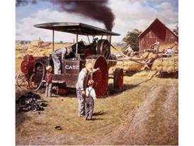 1869年,凯斯公司制造出首台蒸汽拖拉机
