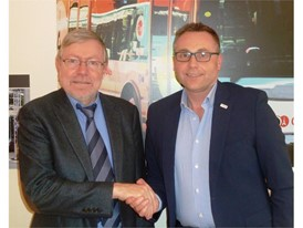 Alain Batier, Director of the MRB department at RATP (left) with Sylvain Blaise, Vice-President IVECO BUS