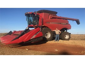 Andre Du Preez with his Case IH Axial Flow Combine