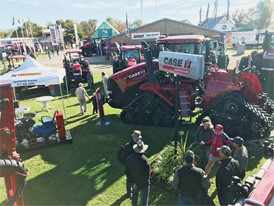 The Case IH set up at NAMPO 2018