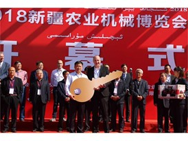 Xinjiang hand-over ceremony for the first of 70 Case IH Magnum™ tractors