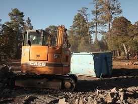 CASE Construction Equipment, and heavy equipment dealers donated equipment for the project