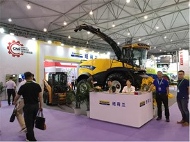 New Holland Agriculture FR500 forage harvester at the China Dairy Exhibition 2018