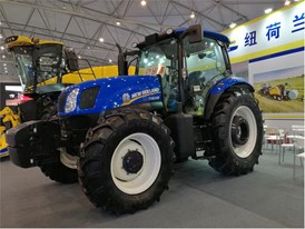The New Holland T1404B tractor on show