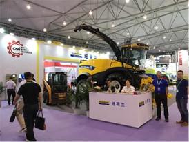 纽荷兰新型FR500青贮收获机在 2018 年中国奶业展览会上备受关注