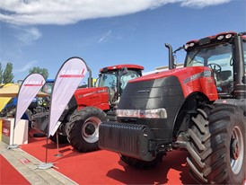 The Case IH Magnum 3404 in Inner Mongolia Expo