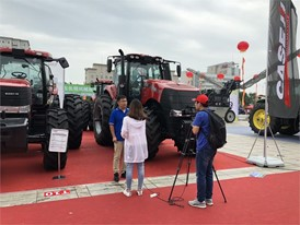 The Case IH stand at the Inner Mongolia Expo