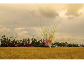 Case IH field days in Rostov, Russia