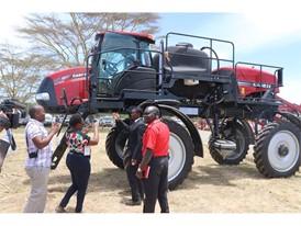 Hon. Mwangi Kiunjuri,Cabinet Secretary Ministry of Agriculture Kenya & Zablon Murunga, Fleet Sales & Technical Manager