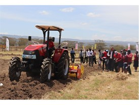 Puma 185 ROPS conducting cultivation is observed at a field demo at Farm Tech Expo