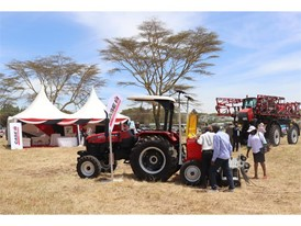 Puma 185 Rops tractor being viewed at Farm-Tech Expo