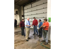 U.S. Representative Glenn Grothman visits CNH Industrial's New Holland Agriculture plant in St. Nazianz, Wisconsin
