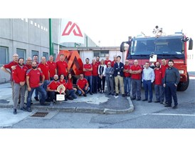 Employees at the Magrius Plant in Brescia following their Bronze level WCM award