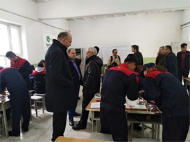 Inside the TechPro2 workshop at the Xinjiang Agricultural Vocational Technical College