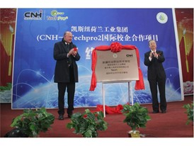 Mr. Luca Mainardi, CNH Industrial (left) with Mr. Li Jingtian, Xinjiang Agricultural Vocational and Technical College