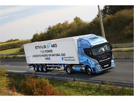 The IVECO Stralis NP travelled from London to Madrid on one single fill of LNG