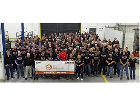 The employees at the Goodfield Plant in the USA celebrate achieving Bronze Status in the World Class Manufacturing Index