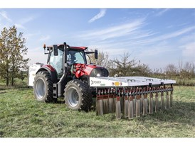 A Case IH tractor using XPower: zero-chemical weed control, through the use of electro-herbicide technology