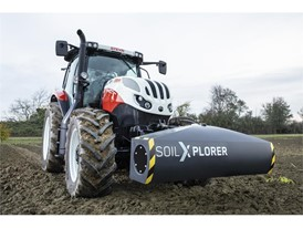 A STEYR tractor using SoilXplorer: real-time soil sensing systems with automatic implement working parameter adjustment