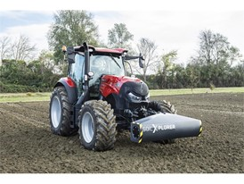 A Case IH tractor with SoilXplorer: real-time soil sensing systems, automatically adjusting implement working parameters