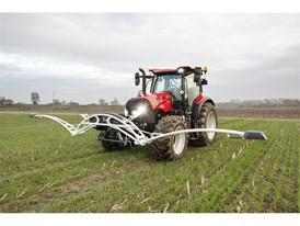 A Case IH Tractor with CropXplorer: a biomass sensing package to  accurately calibrate the application of fertilizer